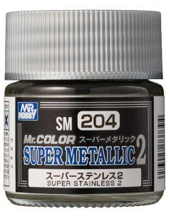 Mr. Hobby, mr-hobby-sm-204-super-stainless-2-mr-color-super-metallic-colors-2-10-ml, MRHSM204