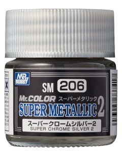 Mr. Hobby, mr-hobby-sm-206-super-chrome-silver-2-mr-color-super-metallic-colors-2-10-ml, MRHSM206
