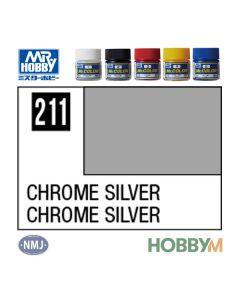 Mr. Hobby, mr-hobby-mc-211-chrome-silver-mr-metal-color-10-ml, MRHMC211