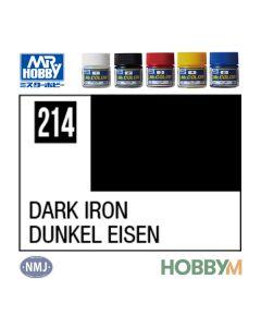 Mr. Hobby, mr-hobby-mc-214-dark-iron-mr-metal-color-10-ml, MRHMC214
