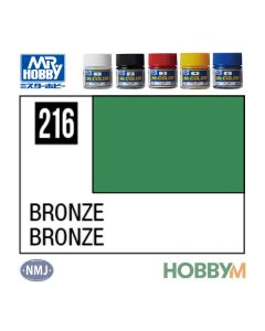 Mr. Hobby, mr-hobby-mc-216-bronze-mr-metal-color-10-ml, MRHMC216