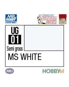 Mr. Hobby, mr-hobby-ug-01-ms-white-10-ml-gundam-color-mr-color, MRHUG01