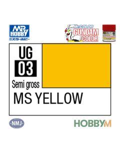 Mr. Hobby, mr-hobby-ug-03-ms-yellow-10-ml-gundam-color-mr-color, MRHUG03