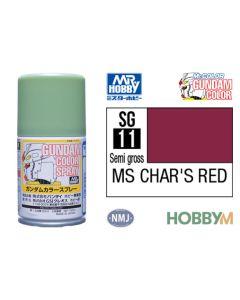Mr. Hobby, mr-hobby-sg-11-ms-chars-red-100-ml-gundam-color-spray, MRHSG11
