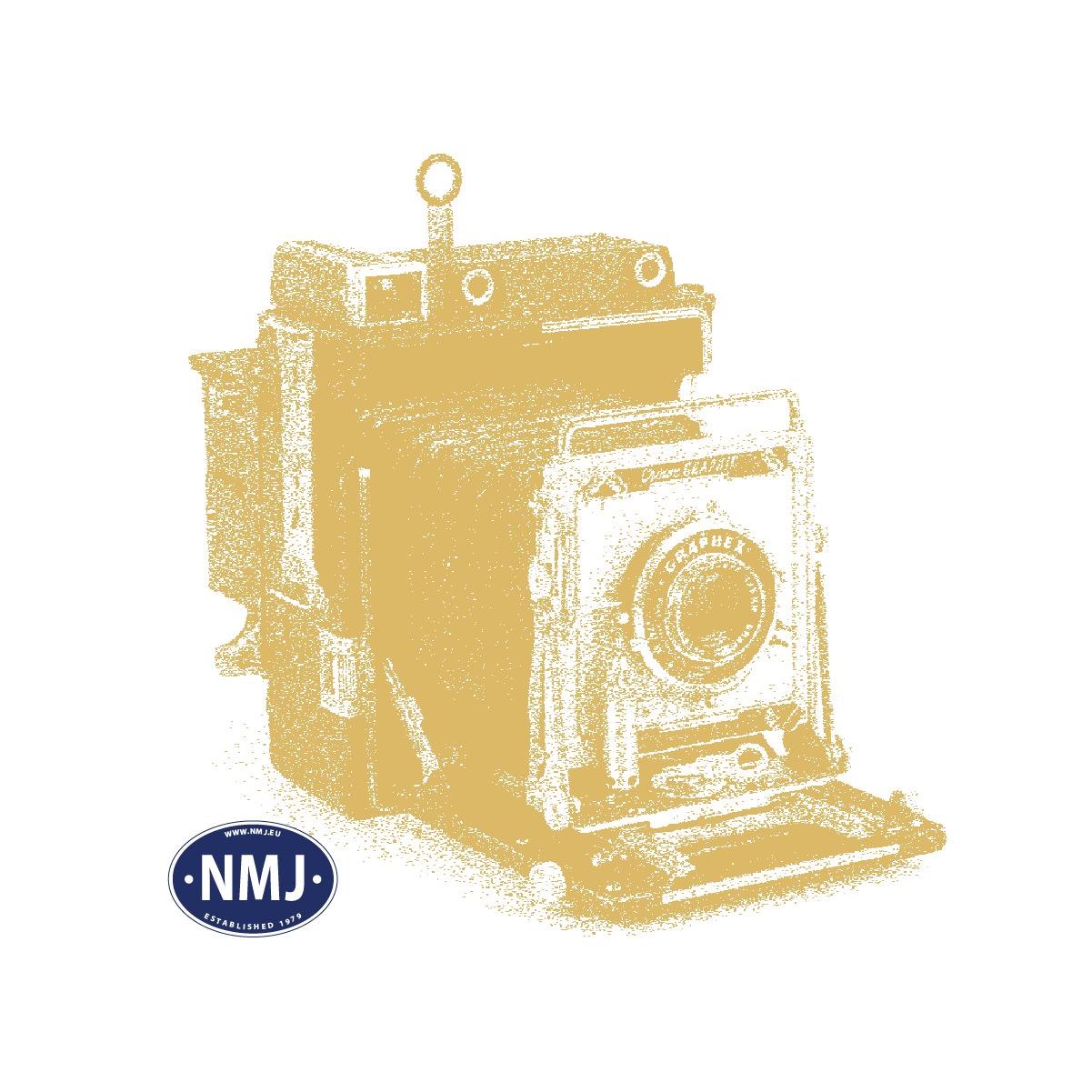 Topline Lokomotiver, NMJ Topline model of the NSB BM69.11 in the latest NSB design, red, Silver, Grey, DC.  , NMJT84.301