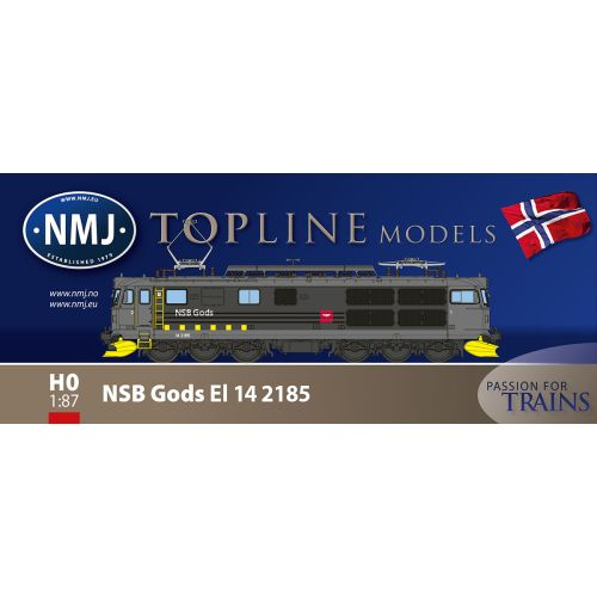 Topline Lokomotiver, nmj-topline-93105-nsb-gods-el14-2185-dc, NMJT93105