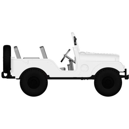 Personbiler, Jeep Universal, Hvit, BRE58902