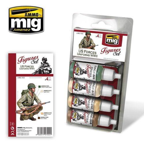 Mig Akrylmaling, ammo-by-mig-jimenez-7022-us-forces-uniforms-ww2-acrylic-paint-17-ml, MIG7022