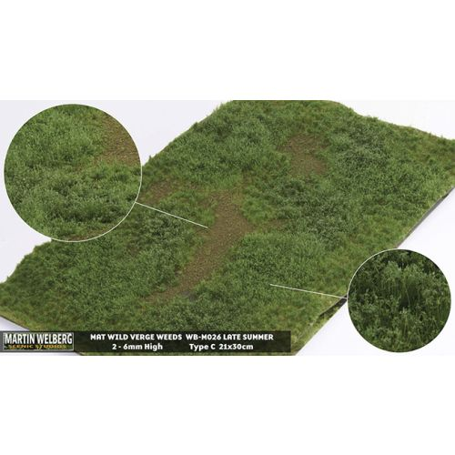 Gressmatter, Gressmatte, Wild Verge Weeds, Sen Sommer, 30 x 21 Cm, MWB-M026