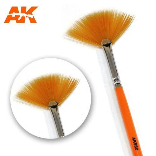 Pensler, ak-interactive-ak-580-fan-shape-weathering-brush, AKI580