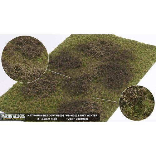 Gressmatter, Gressmatte, Rough Medow Weeds, Vinter #1, 30 x 21 Cm, MWB-M012