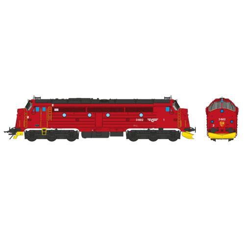Topline Lokomotiver, nmj-topline-145005-nsb-di3a-602-red-black-gm-logo-0-scale-1-45-dc, NMJT145005