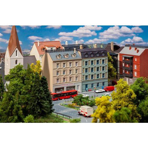 Bolighus og bygårder (Faller), 2 Bygårder med butikker, N-Skala, FAL232379