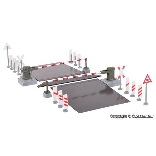 Skinnetilbehør, viessmann-5108-fungerende-planovergang-dcc-mm-digital-h0, VIE5108