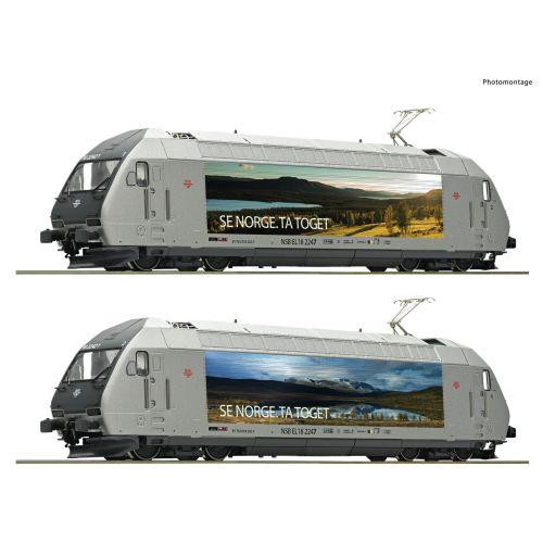 Lokomotiver Norske, roco-70658-nsb-el-18-2247-se-norge-ta-toget-motivlakkering-dc-analog, ROC70658
