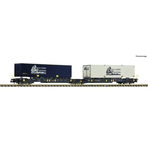 Godsvogner Norske, fleischmann-82012-cargonet-containervogn-t2000-kjell-hansen-shipping-n-skala, FLM825012