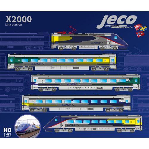 Lokomotiver Svenske, Jeco-X2-A310S-Linx-X2000-X2-2042NK-5-car set-DCC-lyd-H0, JECX2-A310S