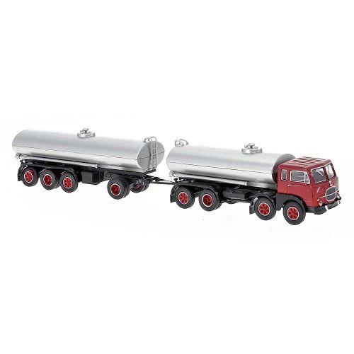 Lastebiler, Fiat 690 Millepiedi Tankbil, Rød/Svart, BRE58450