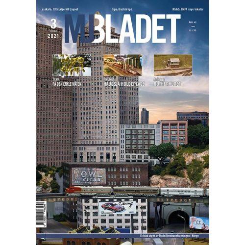 Blader, MJ-Bladet 3/2021, modelljernbane tidsskrift, MJF0321