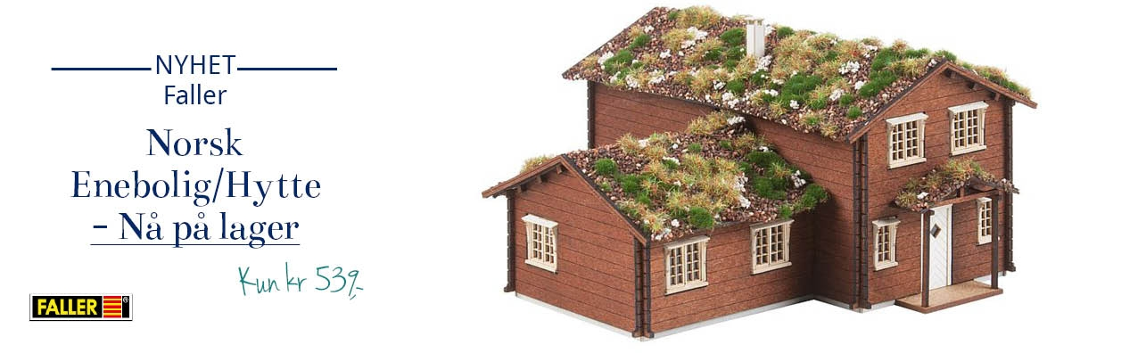 Faller Norsk Enebolig / hytte, Laser-cut byggesett - Faller 130605
